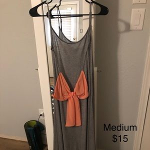 Soft Maxi Dress with Bow